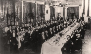 Dinner in Honor of Henry Morgnthru in 1918