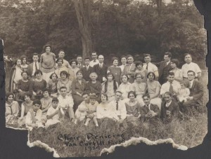 The Choir Picnicking in Van Cortland Park in 1914