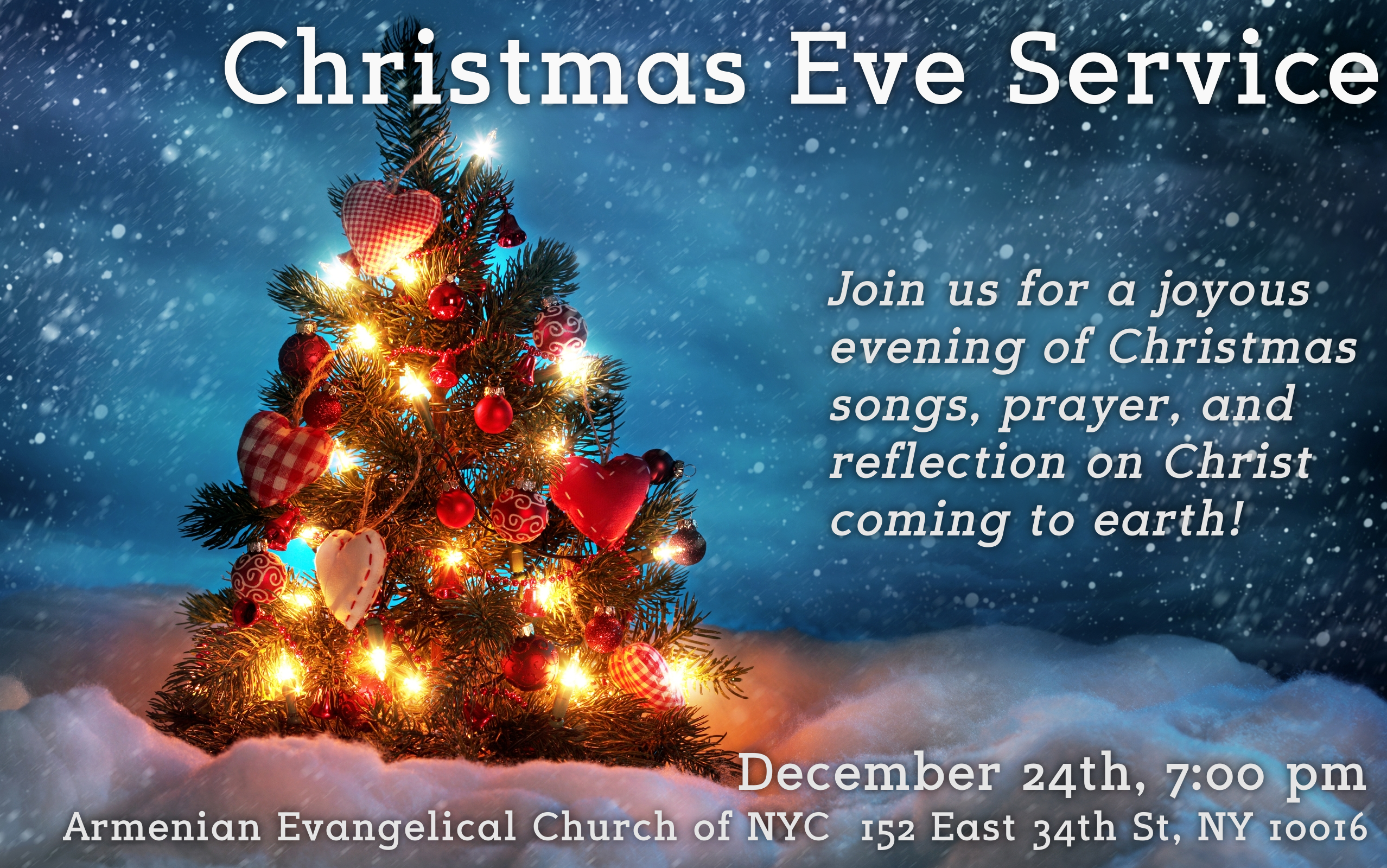 The Armenian Evangelical Church of NY – Christmas Eve Service